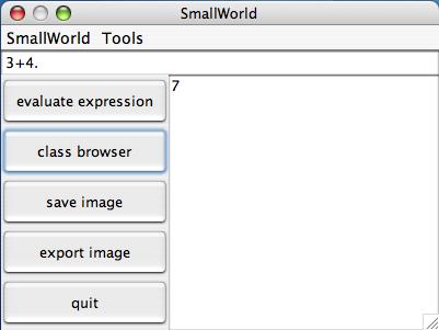 Interface de SmallWorld
