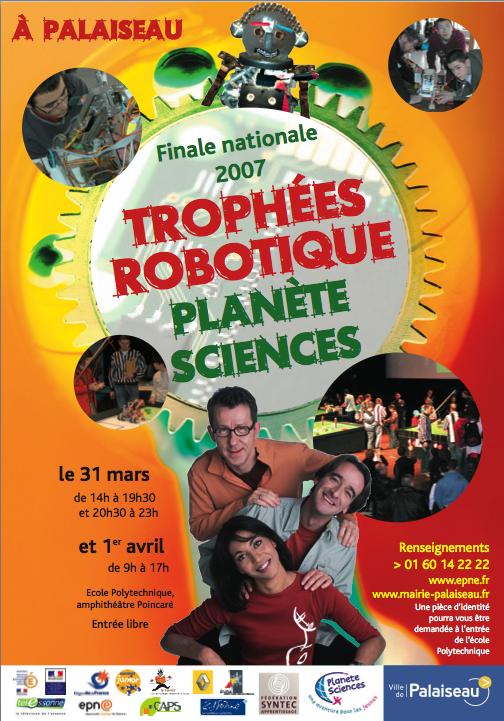 Flyer Trophées Robotique 2007
